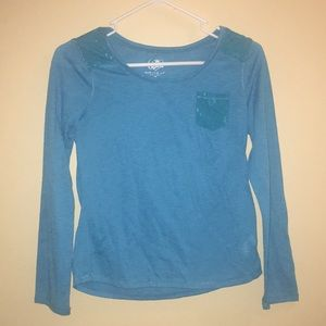 Justice Brand- Girls long sleeve t-shirt w/ pocket